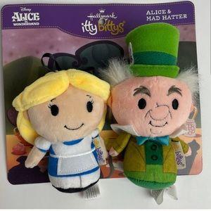 Alice in Wonderland and Mad Hatter Mini Plush